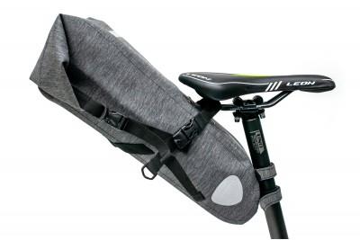 Велосумка 'байкпакинг' под седло 62x14x14cm серый водоотталк. BRAVVOS A2-402
