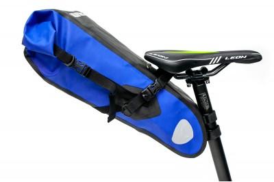 Велосумка 'байкпакинг' под седло 62x14x14cm черно-синий BRAVVOS A2-402 водоотталк. материал