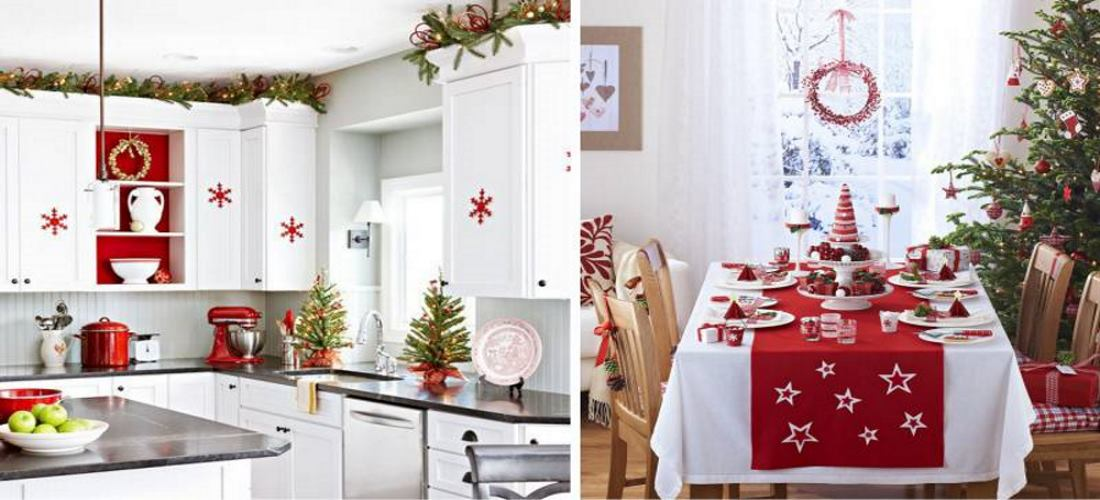 фото новогодней кухни